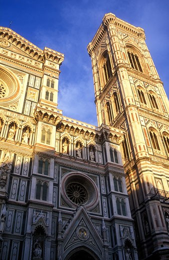 Italy Florence Cathedral of Santa Maria del Fiore The Duomo Piazza del Duomo : Stock Photo