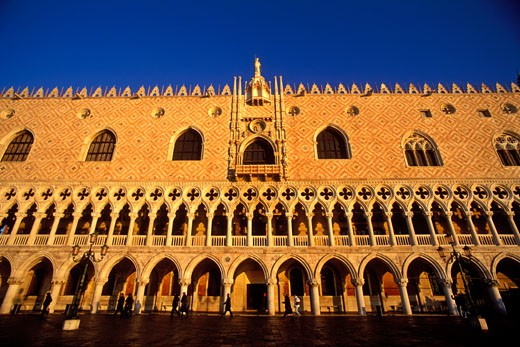 Stock Photo: 1902-1486 Italy Venice The Doges Palace Palazzo Ducale exterior facade