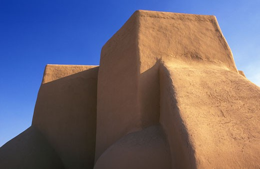 USA New Mexico Ranchos de Taos Church of Saint Francis of Assisi : Stock Photo