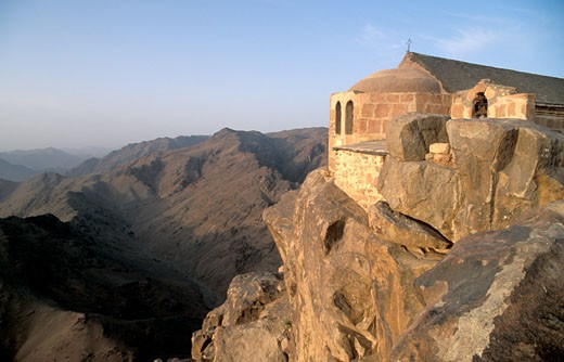 The Chapel on the top of mount Sinai : Stock Photo
