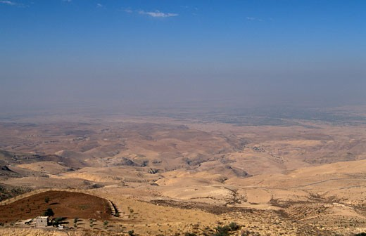 Stock Photo: 1904-1026 Jordan the view West of Mount Nebo