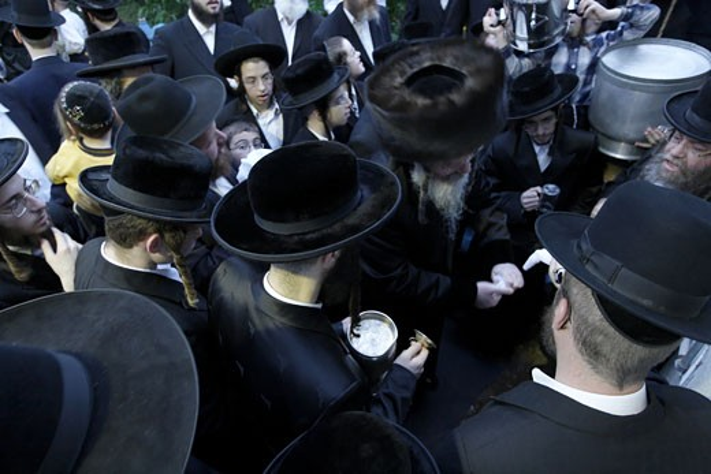 Mayim Shelanu ceremony Bnei Brak Israel : Stock Photo