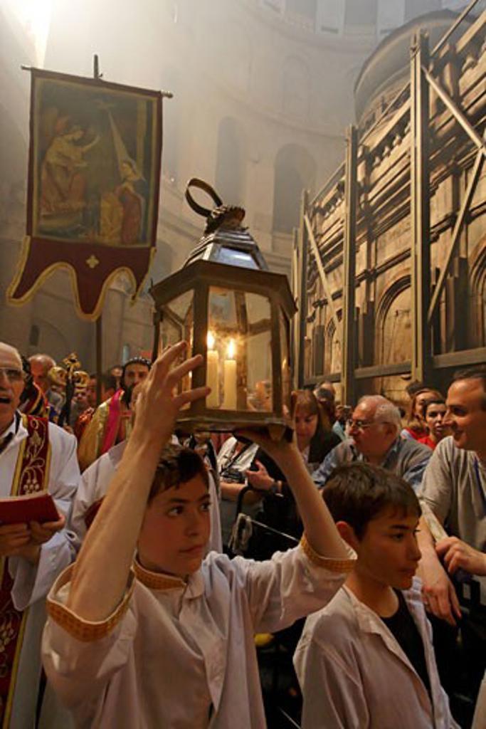 Ceremony of the Holy Light Jerusalem : Stock Photo