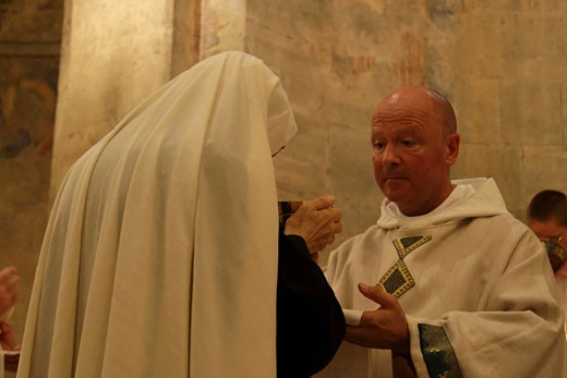 Ordination ceremony of Brother Olivier : Stock Photo