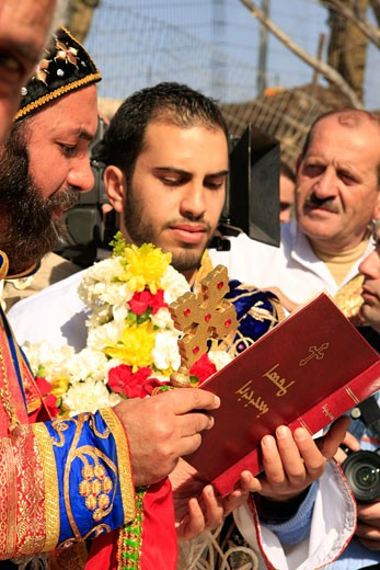 Syrian Orthodox Church celebrates the Feast of Theophany : Stock Photo