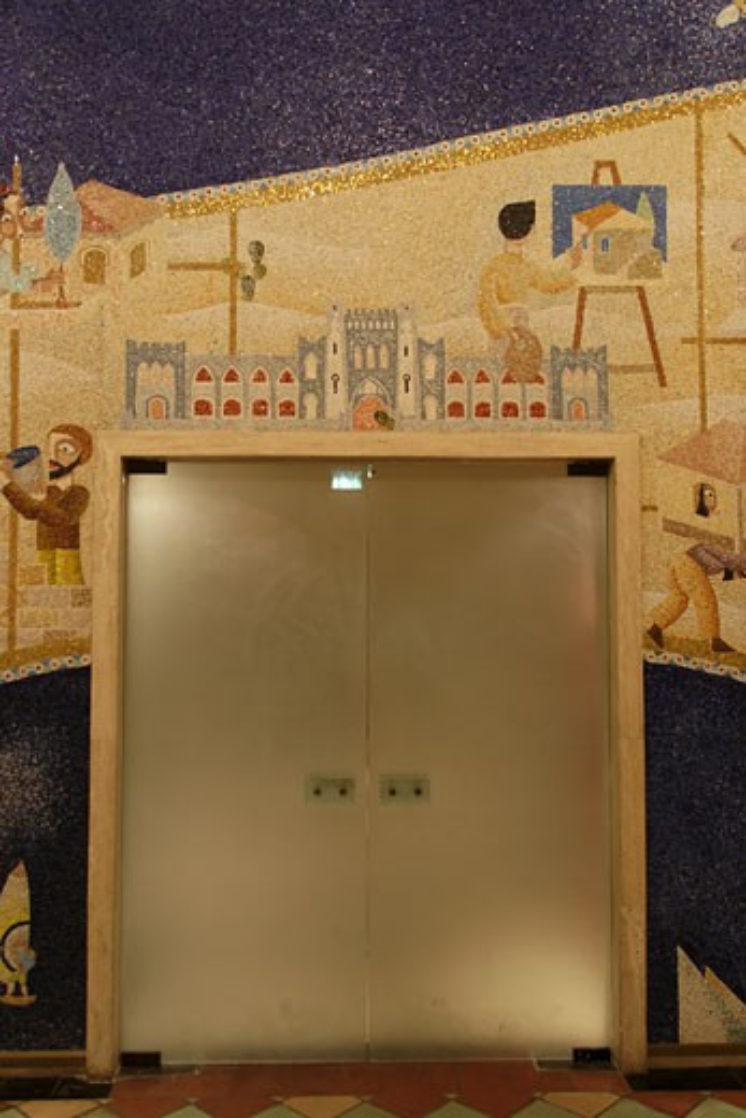 The mosaic at Shalom Tower : Stock Photo