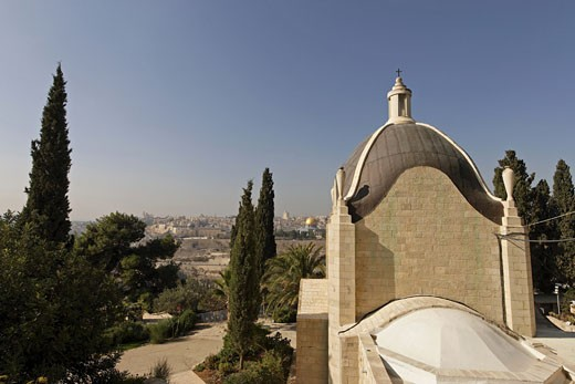 Stock Photo: 1904-2211 Dominus Flevit Jerusalem