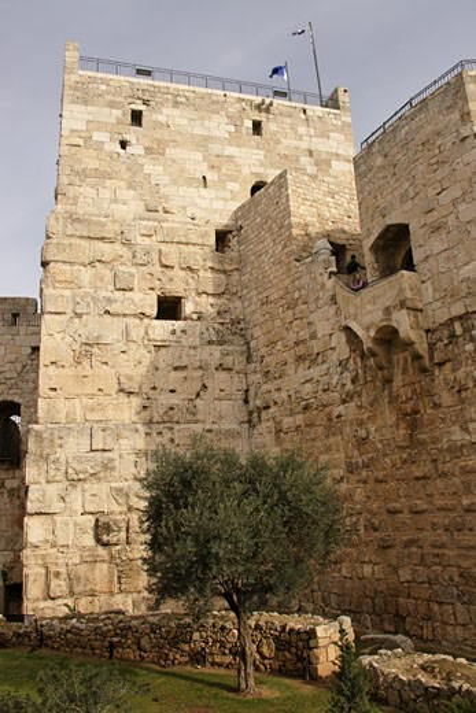 Stock Photo: 1904-2266 Tower of David museum Jerusalem