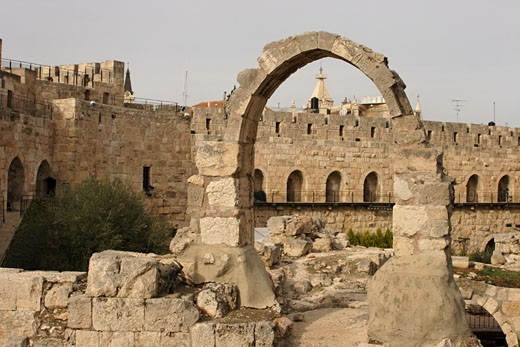 Stock Photo: 1904-2268 Tower of David museum Jerusalem