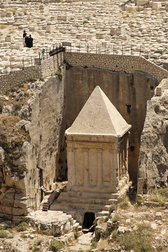 tombs of Zecharia Jerusalem : Stock Photo