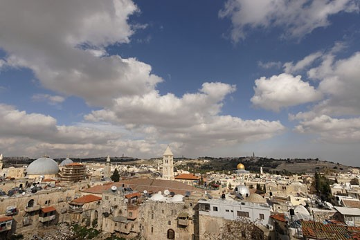 Stock Photo: 1904-2430 Jerusalem view of the Old City
