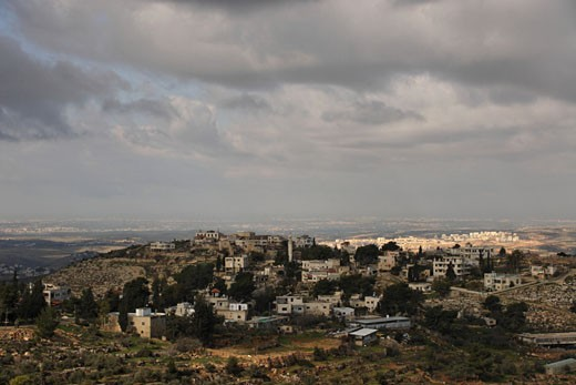 Palestinian village Beit Ur el Foka the site of biblical Upper Beth Horon : Stock Photo