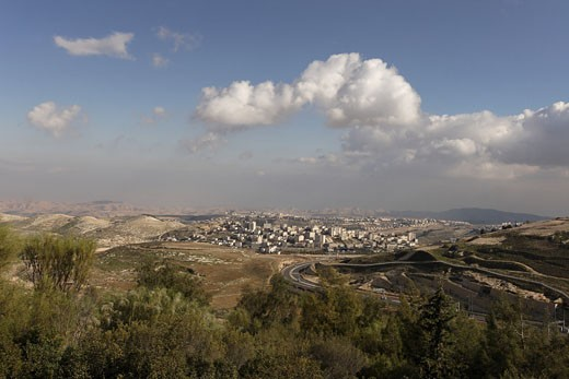 A view of the Judean desert from Mount Scopus : Stock Photo