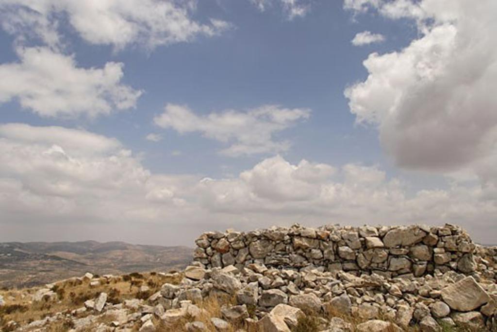 Samaria the altar on Mount Ebal : Stock Photo