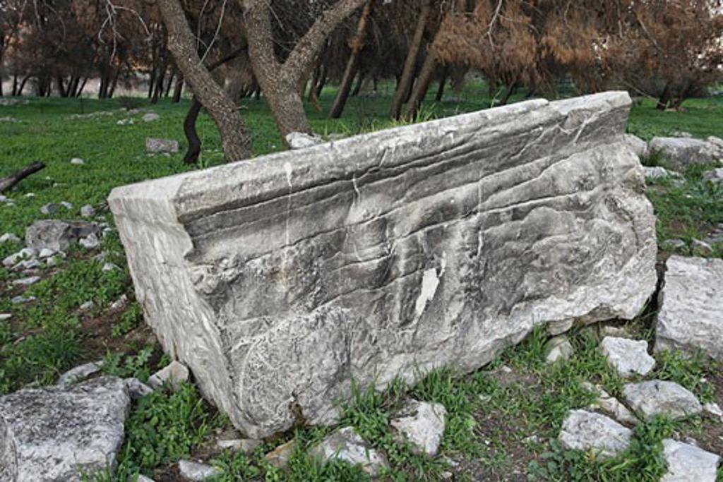 Roman sarcophagus in Tel Kadesh : Stock Photo