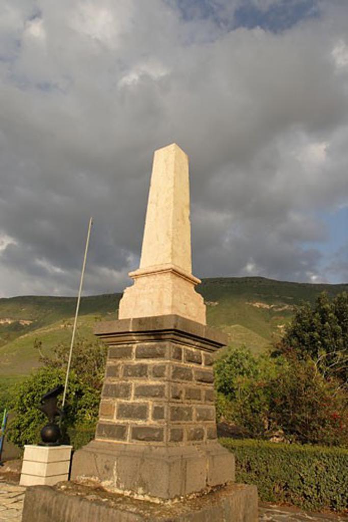 Memorial to the Turkish pilot : Stock Photo