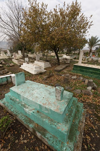 The Muslim cemetery in Tuba-Zangria : Stock Photo