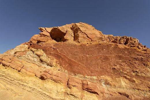 Stock Photo: 1904-4663 Coloured rock formations in Ramon crater