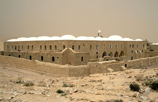 The Judean desert Nabi Musa holy site for Muslims : Stock Photo