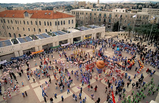 The Makuya procession in Jerusalem : Stock Photo