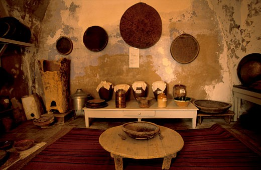 Old Bethlehem Folklore Museum a traditional Palestinian kitchen : Stock Photo