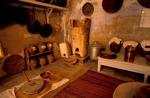 Stock Photo: 1904-7015 Old Bethlehem Folklore Museum a traditional Palestinian kitchen
