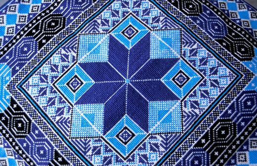 Stock Photo: 1904-7021 Bethlehem traditional Palestinian embroidery