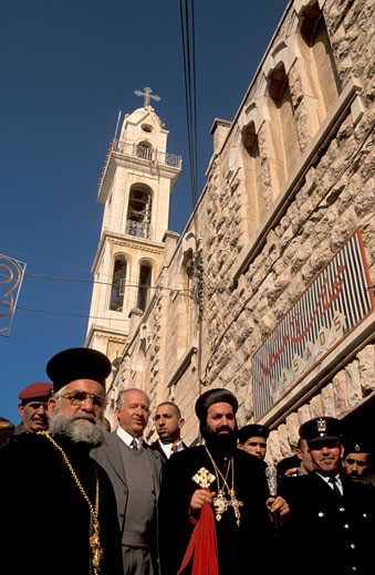 Bethlehem the Syrian Orthodox Christmas Procession : Stock Photo