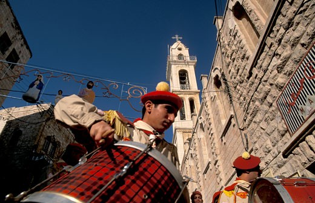 Stock Photo: 1904-7044 Bethlehem the Syrian Orthodox Christmas Procession