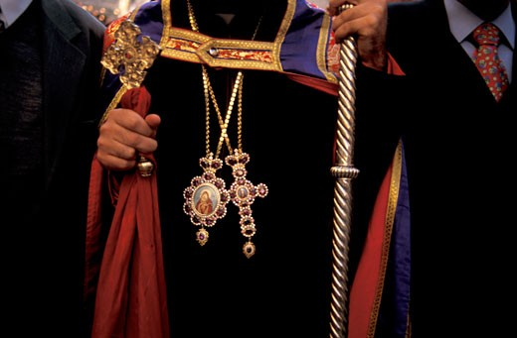Bethlehem a Syrian Orthodox Priest : Stock Photo