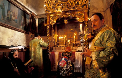 Syrian Orthodox Christmas Ceremony : Stock Photo