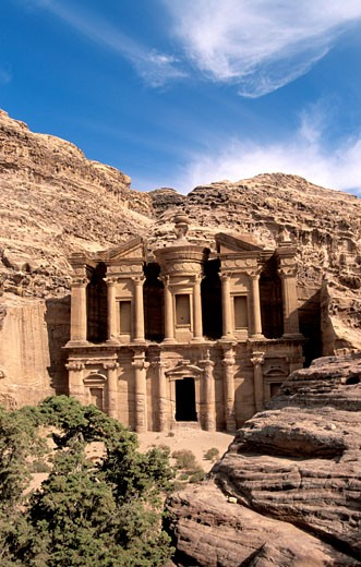 Petra Al Deir the Monastery : Stock Photo