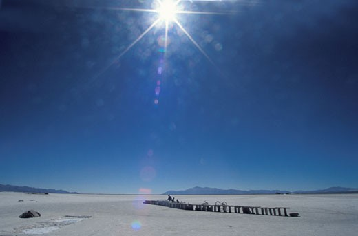 Salt lake near the Chilean border Atacama desert Argentina : Stock Photo