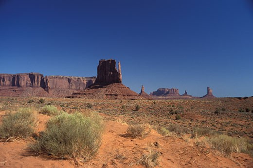 Stock Photo: 1906-3006 The stunning cliffs of the Monument valley National Park Arizona USA