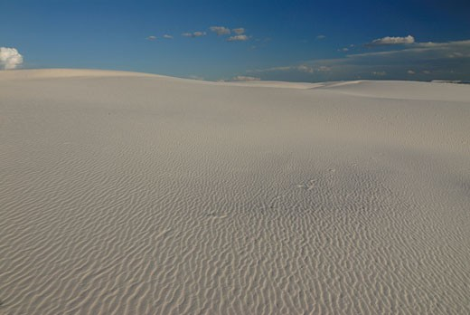 rippled gypsum sand dunes in the White Sands National Monument New Mexico USA : Stock Photo