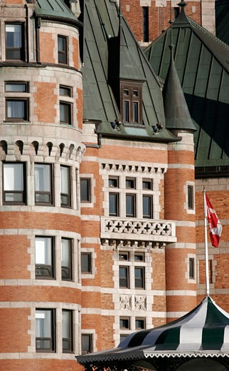 The frontage of Chateau Frontenac : Stock Photo