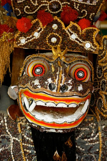 Stock Photo: 1907-2214 Detail of a celebration mask Bali Indonesia