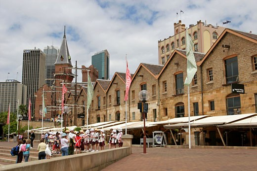 Stock Photo: 1907-2478 Sightseeing on the City  from the old quartier The Rocks  Sydney  New South Wales  Australia
