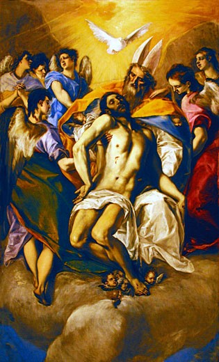 Stock Photo: 1909-1778 The Holy Trinity by  El Greco