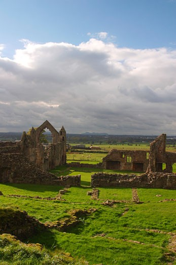 Stock Photo: 1909-1971 Haughmond Abbey 12th Century Augustinian near Shrewsbury Shropshire England GB Great Britain UK United Kingdom British Isles EU
