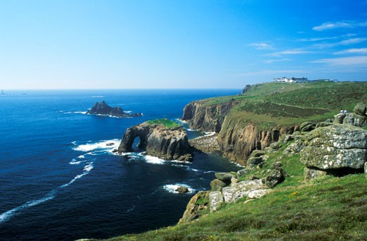 Lands End Land s Land s End Cornwall South West Southwest England United Kingdom Great Britain UK GB EU : Stock Photo