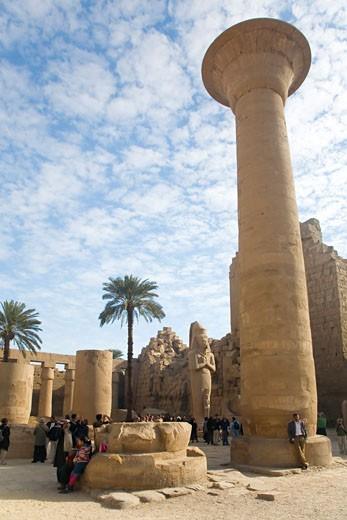 Stock Photo: 1909-3350 Temple of Amun Karnak in Luxor Egypt North Africa Karnak Temple is the largest temple complex ever built and was gradually enlarged by successive pharoahs over a thirteen hundred year period