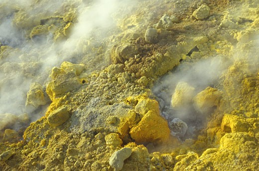 Detail of sulphuric volcanic activity VulcanoVulcano is apart from Stromboli the Eolian island with the most recent volcanic activity eruption of 1888-1890 It offers the most spectacular crater and fumaroles ITALY Aeolian Islands Lipari : Stock Photo