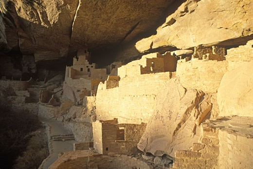 Spruce Tree House ruins at Mesa Verde National Park USA Colorado : Stock Photo