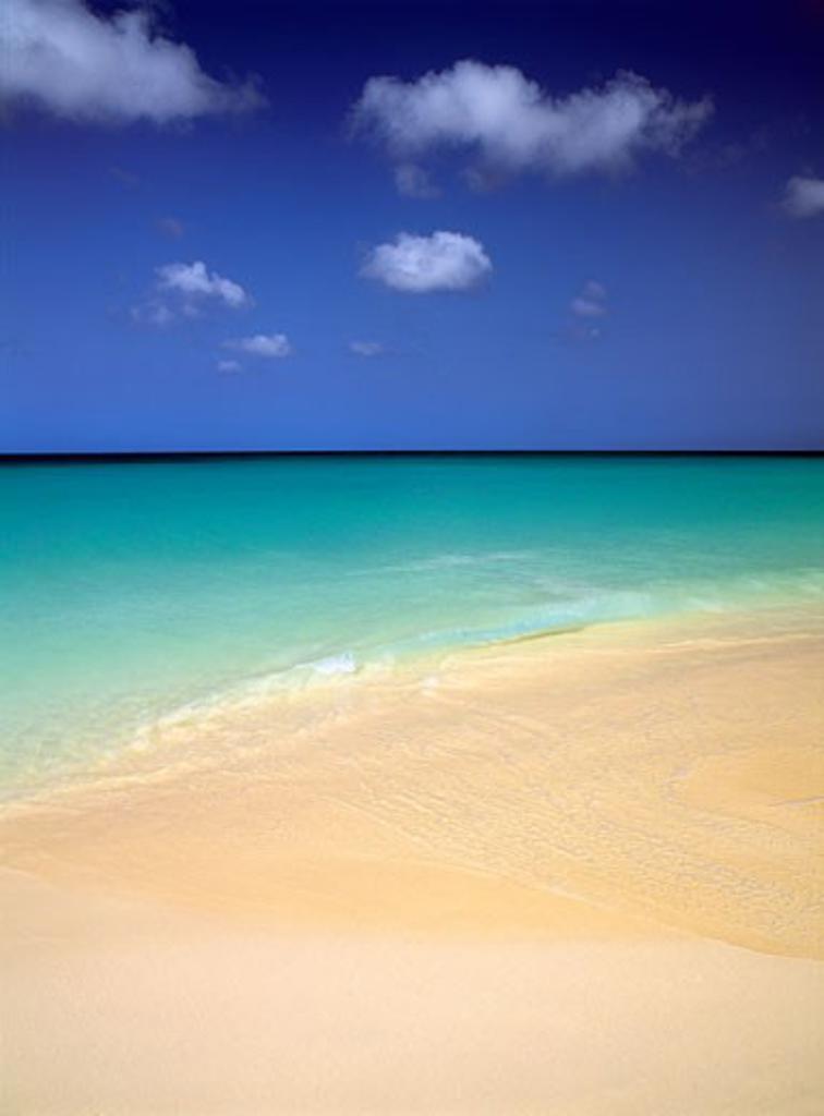 Stock Photo: 1911-1004 Powery Broad Beach  Eagle Beach  Aruba