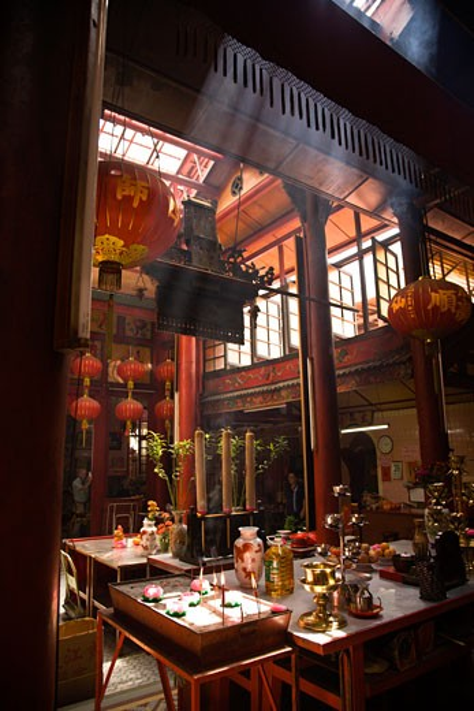 Stock Photo: 1911-1201 Sin Sze Si Ya Temple founded in 1864 near Central Market  capital city of Kuala Lumpur  Malaysia Peninsula  Malaysia  SE Asia