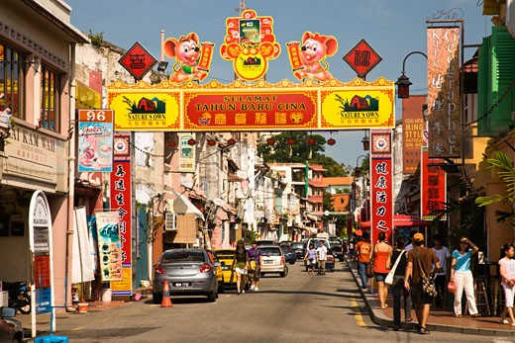 Stock Photo: 1911-1281 Chinatown  Malacca  Historic Melaka   Malaysia Peninsula  Malaysia  SE Asia