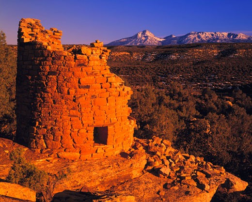 Stock Photo: 1912-1187 Tower ruin  Canyons of the Ancients National Monument  Colorado