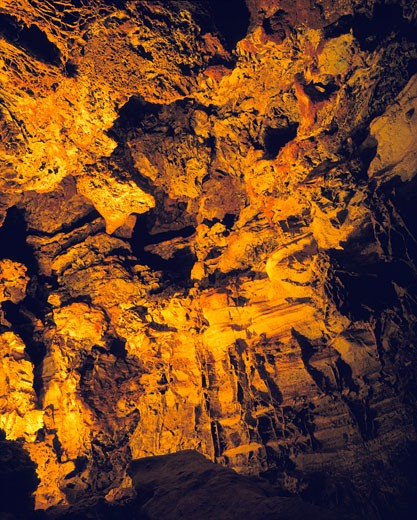 Stock Photo: 1912-1729 Room inside Wind Cave  Wind Cave National Park  South Dakota