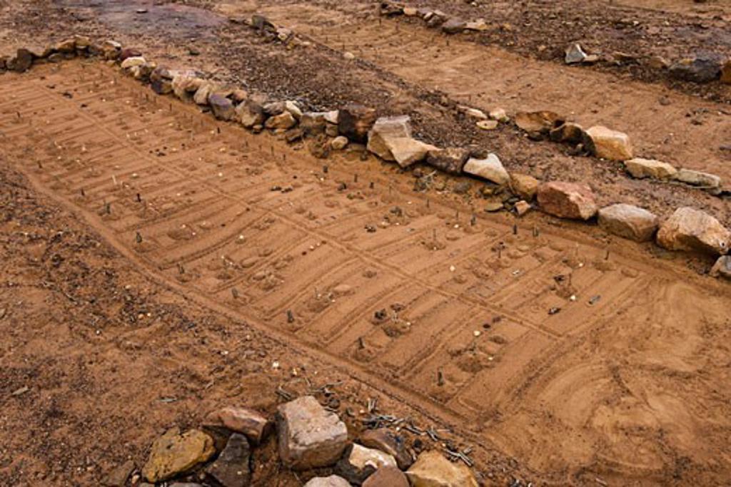 Fox Table of SangaDogon village Bandiagara Escarpment Mali : Stock Photo